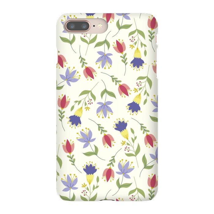 AC-00033775, Phone Cases, iPhone 7 plus, SlimFit, TracyLucy Designs, Floral Toss, Designers,floral,pattern,spring,summer,nature