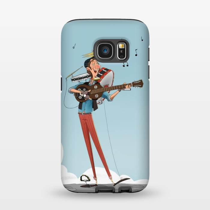 One man band strongfit galaxy s7 cases artscase for Jackson galaxy band
