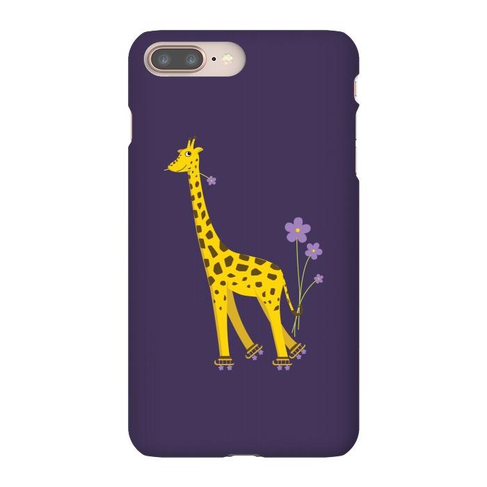 Cute Funny Rollerskating Giraffe