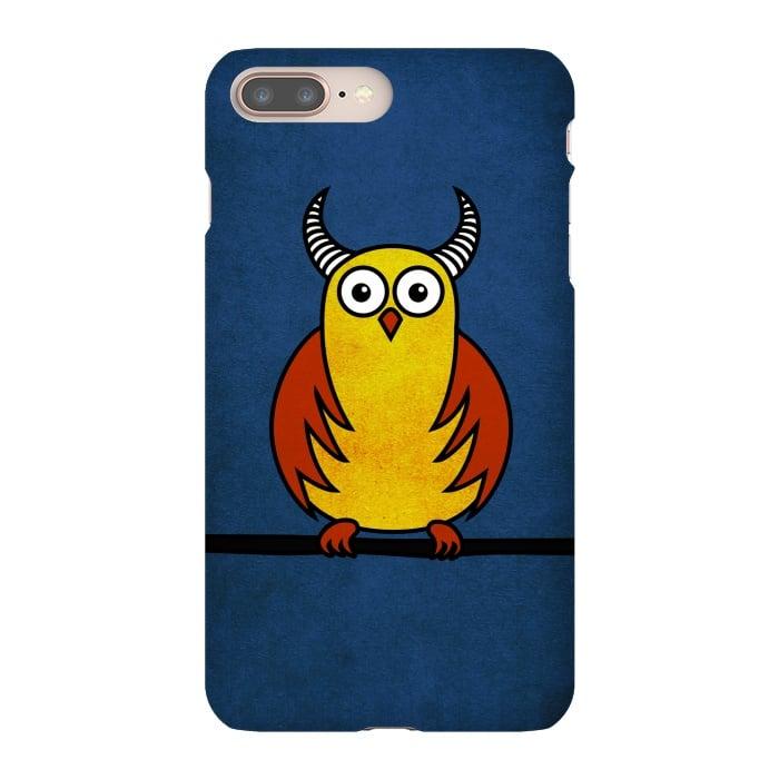 Funny Cartoon Horned Owl