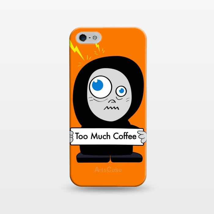 Funny Cartoon Character Too Much Coffee