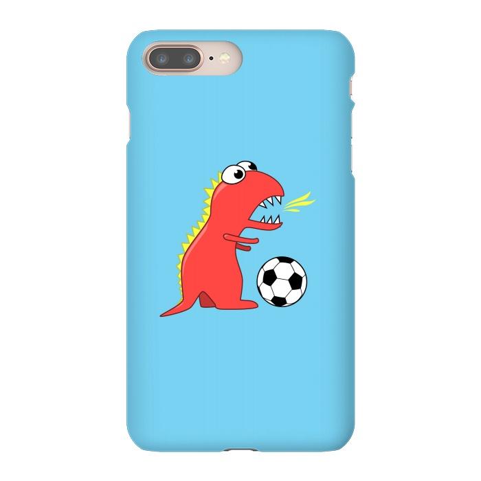Funny Cartoon Dinosaur Soccer Player