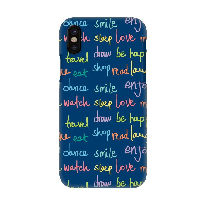 newest c64a1 0746e iPhone X Cases Happy Typo by MaJoBV | ArtsCase