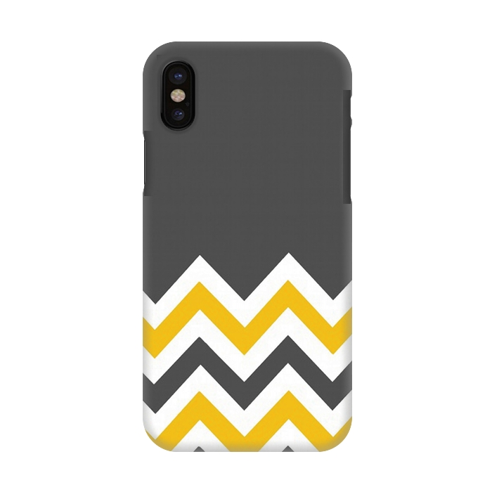 Color Blocked Chevron Mustard Gray