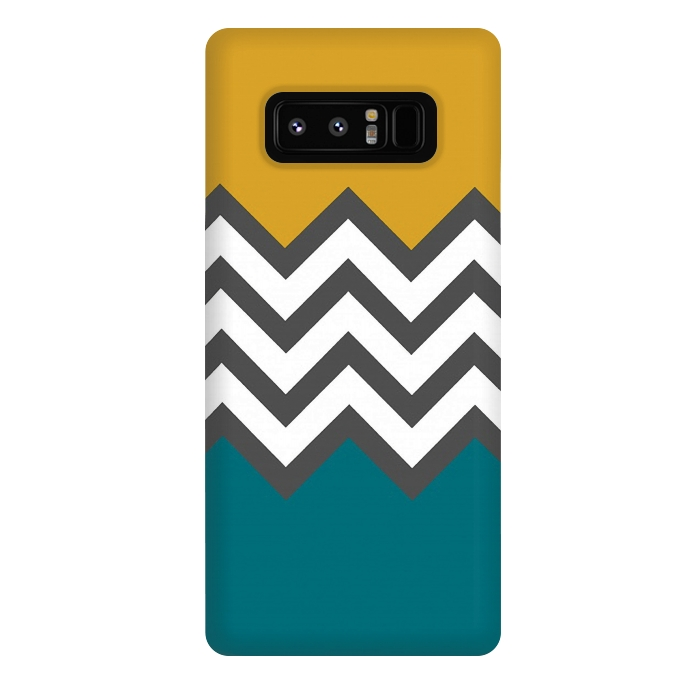 Color Blocked Chevron Mustard