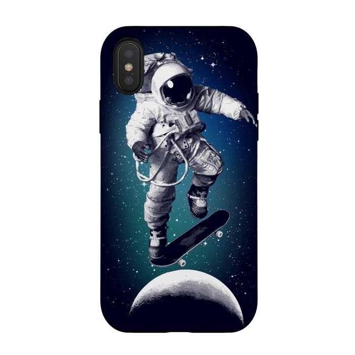 Skateboarding astronaut