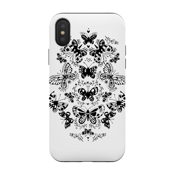 Iphone Xs X Cases Ink Butterfly By Laura Grant Artscase