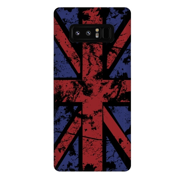 Grunge UK Flag Black