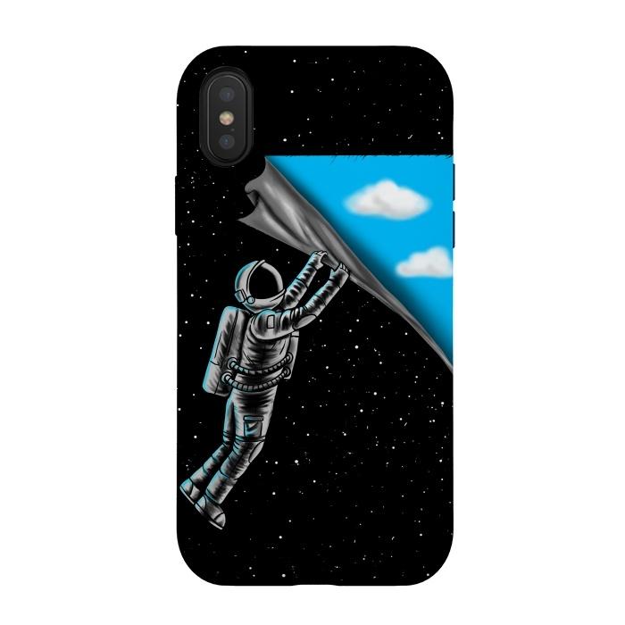 Astronaut open the sky