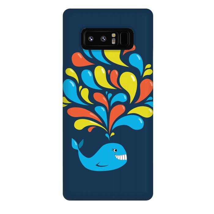 Cute Colorful Splash Cartoon Blue Whale