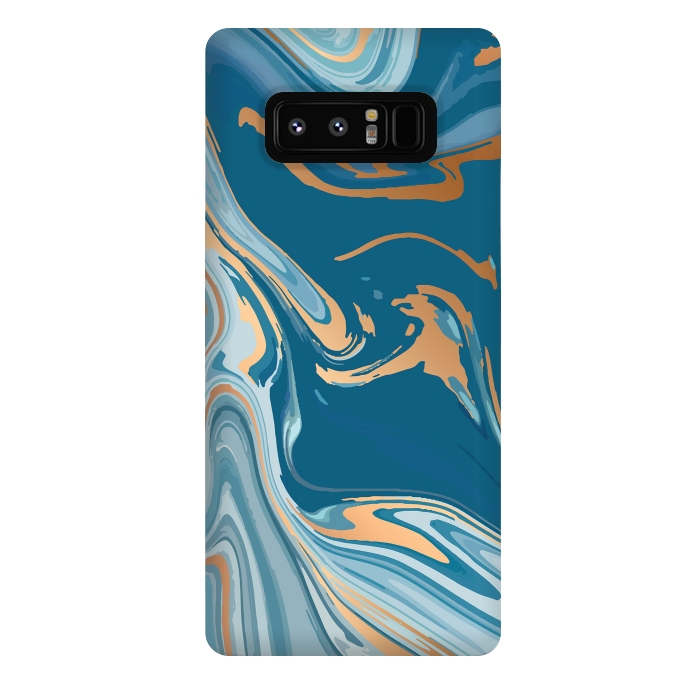 Liquid Blue Marble and Gold 014