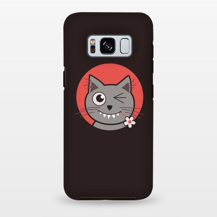 cute winking kitty cat strongfit galaxy s8 cases artscase