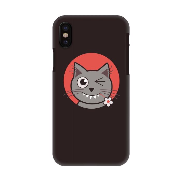cute winking kitty cat slimfit iphone x cases artscase