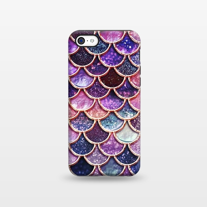 Multicolor Pink Mermaid Scales