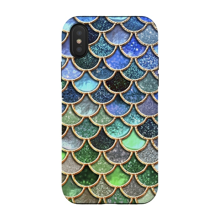 Multicolor Green & Blue Mermaid Scales
