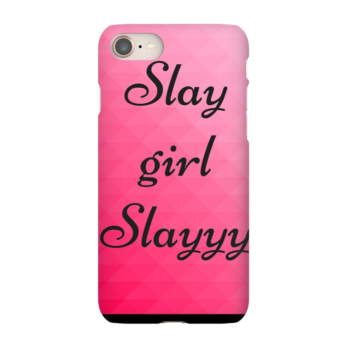 slay girl slayyy pink slimfit iphone 8 7 cases artscase