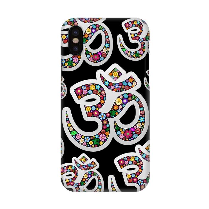 Namaste Floral Yoga Symbol Slimfit Iphone X Cases Artscase