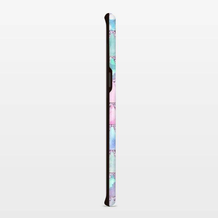 Multicolor Pink & Blue Watercolor Mermaid Scales