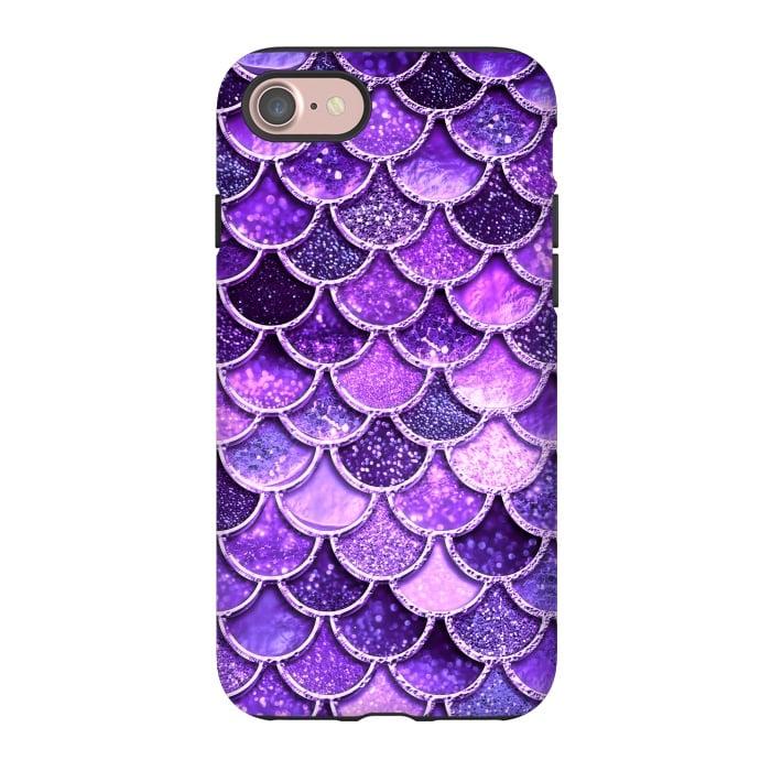 Ultra Violet Glitter Mermaid Scales