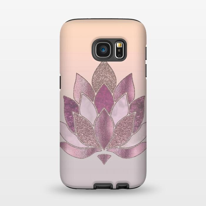 Shimmering Lotus Flower Symbol Strongfit Galaxy S7 Cases Artscase