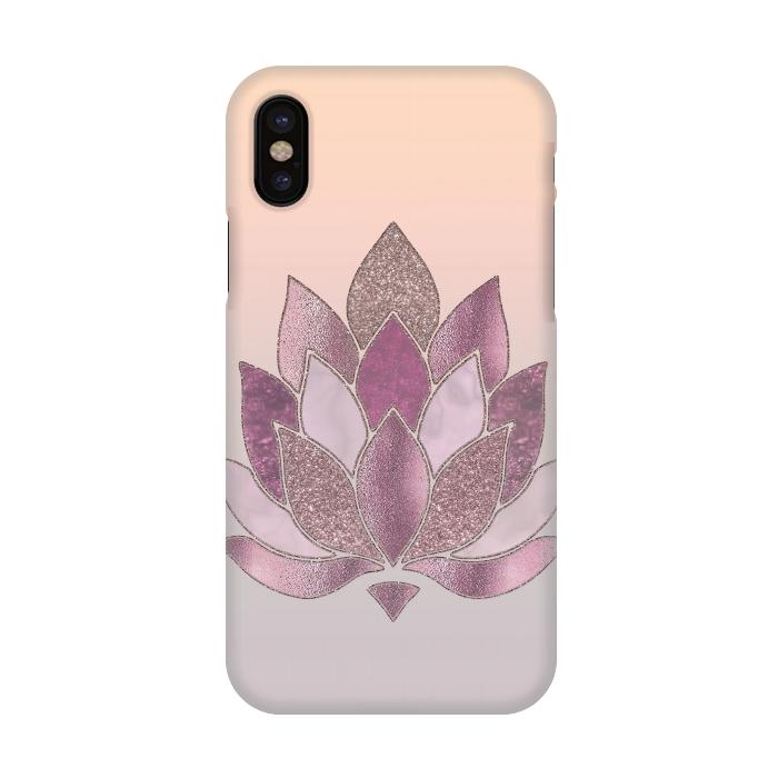 Shimmering lotus flower symbol slimfit iphone x cases artscase shimmering lotus flower symbol mightylinksfo