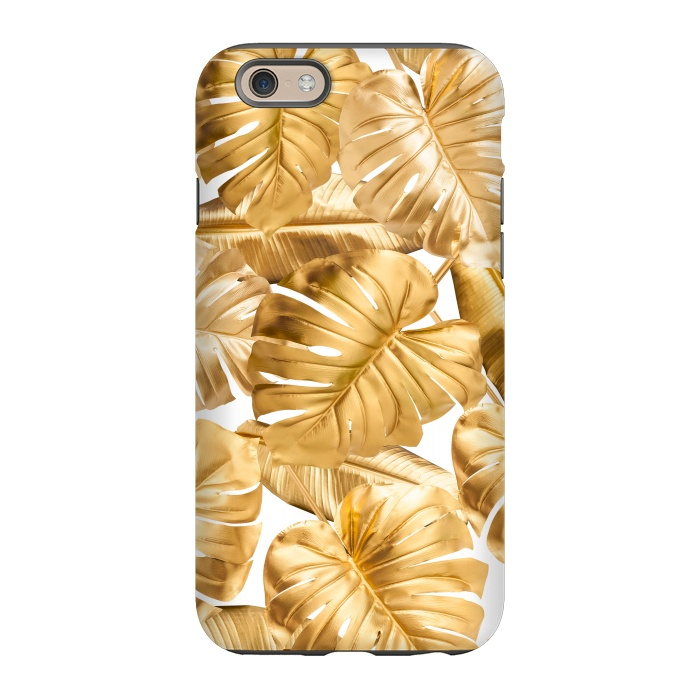 iphone 6s case gold leaves