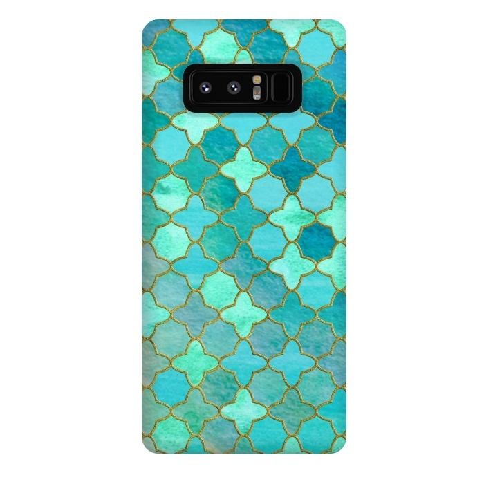 Aqua Moroccan Shapes Pattern