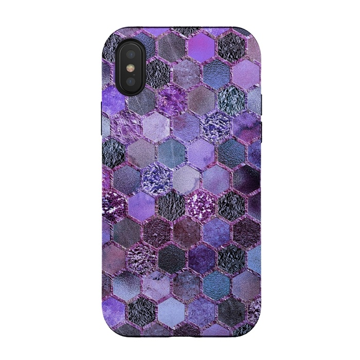 Purple Metal Honeycomb Pattern