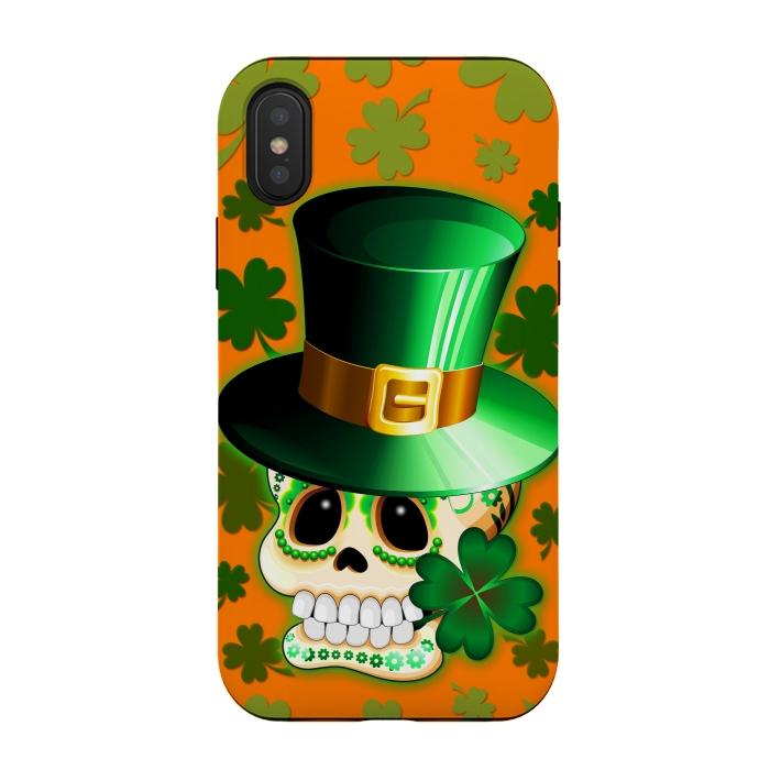 St Patrick Lucky Irish Skull Cartoon