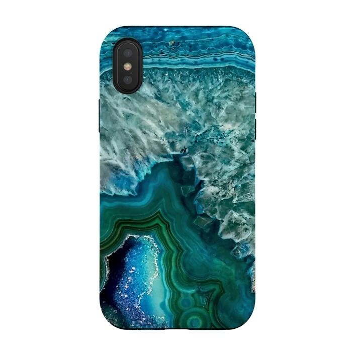 Ocean Blue Glitter Agate