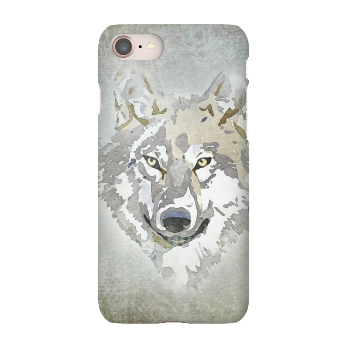 online retailer 744af ef7d8 iPhone 8/7 Cases Wolf Head by Andrea Haase | ArtsCase