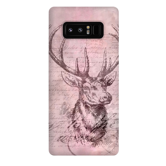 Vintage Deer Pastel Pink