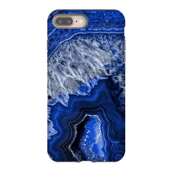 Night Blue Agate Geode