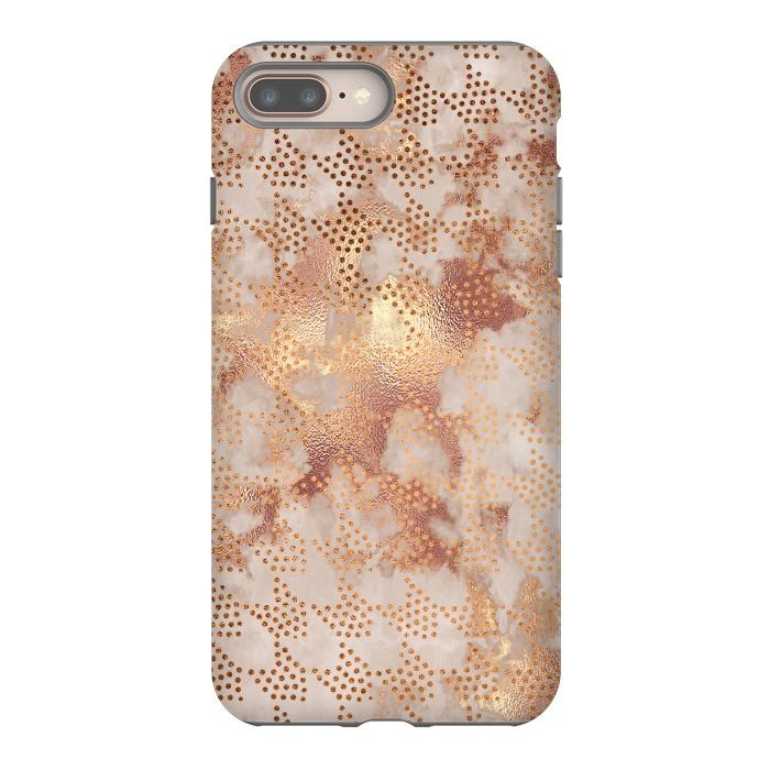 Geometrical modern Rose Gold Marble Pattern