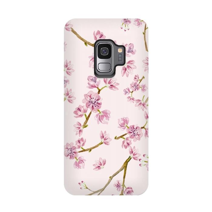 Pink Spring Cherry Blossom Pattern