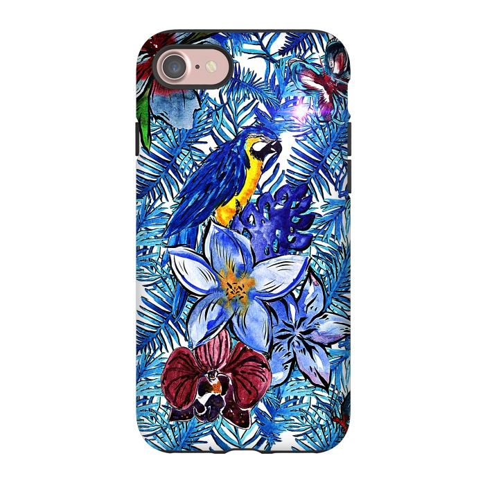 Blue Jungle Bird Pattern