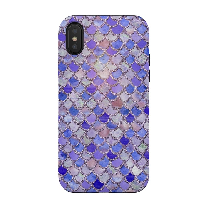 Purple hand drawn mermaid scales