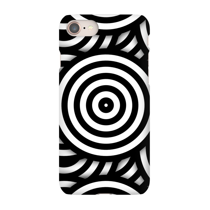 pop art circle pattern black white slimfit iphone 8 7 cases artscase