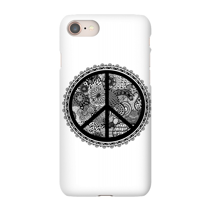 Zen Doodle Peace Symbol Slimfit Iphone 87 Cases Artscase