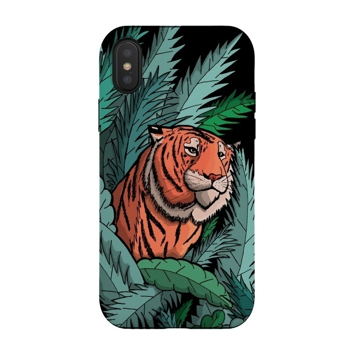 As the tiger emerged from the jungle