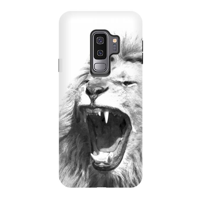Black and White Fierce Lion
