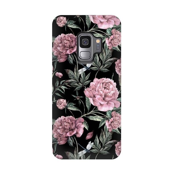 Black and Pink Peony Pattern