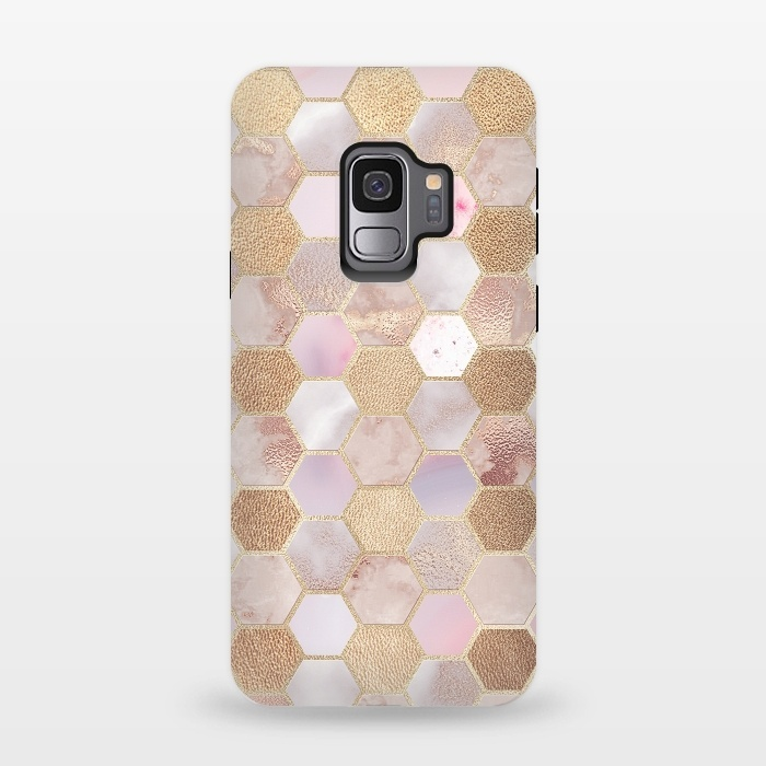 Rose Gold Copper Honeycomb Pattern