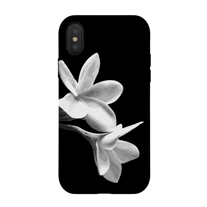 White flowers black background strongfit iphone x cases artscase white flowers black background mightylinksfo