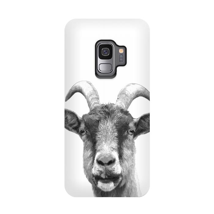 Black and White Goat Portrait