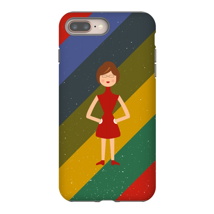 iphone 8 7 plus cases fashionable girl by tmsarts artscase