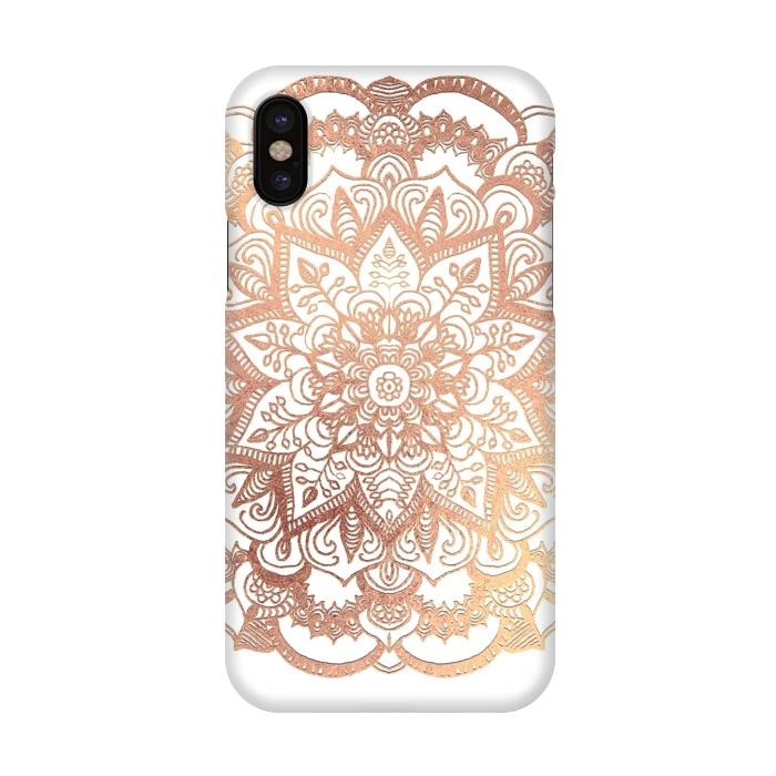 new concept 97d39 ac699 iPhone X Cases Mandala Rose-Gold by ''CVogiatzi. | ArtsCase
