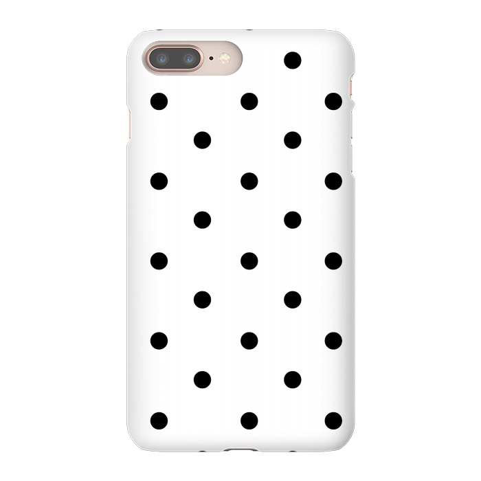 Simply black polka dots on white