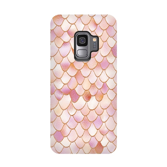 10ba735d3a06 Wonky Rose Gold Mermaid Scales - Galaxy S9 cases   ArtsCase