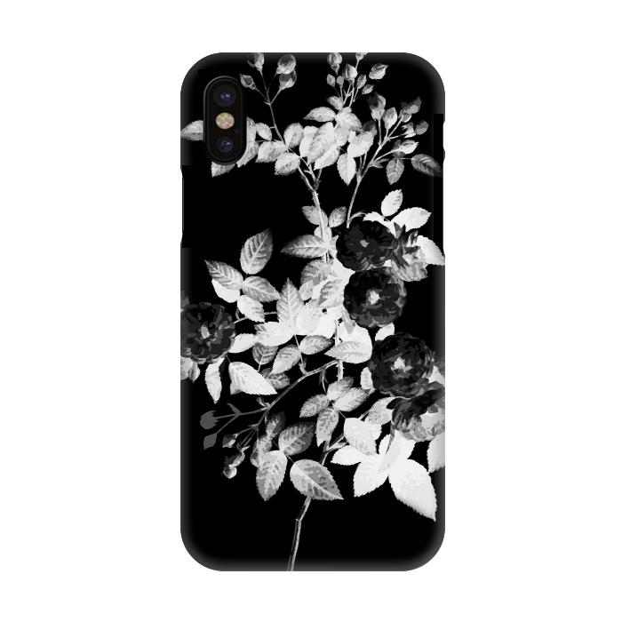 Black And White Rose Botanical Illustration By Oana